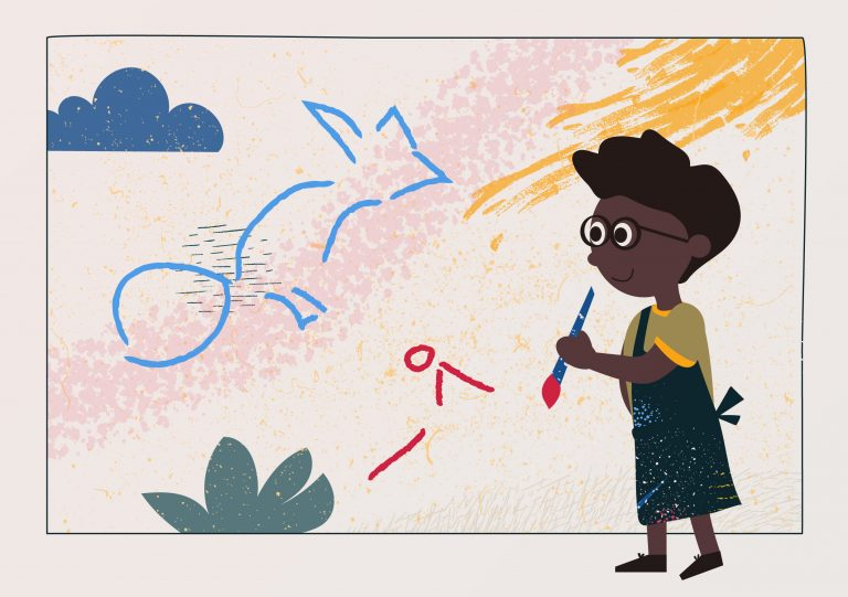 Illustratie bij Kinderboekenweek
