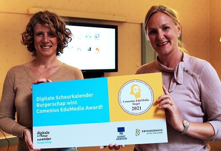 Digitale Scheurkalender Burgerschap wint prijs