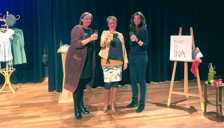 Foto: Andrea Knols (Kunstgebouw), Mariska Scalongne (Synerkri) en Floor Tuink (gemeente Krimpen aan den IJssel)