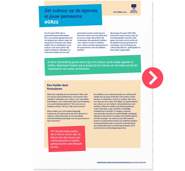 Voorkant PDF Handreiking bij Gemeenteraadsverkiezingen 2022